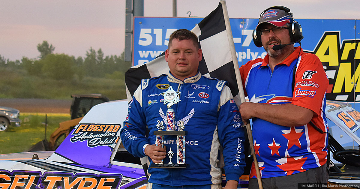 Jeremy Crimmins won the Pickett Salvage USRA Hobby Stock main event.